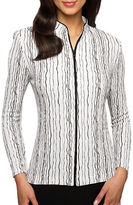 Alex Evenings Plus Striped Shimmer Jacket