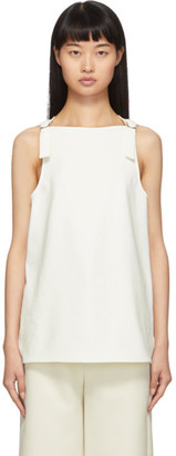 Tibi Off-White Chalky Drape Top