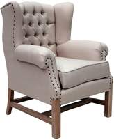 Hudson Furniture Armchairs Wing Armchair, Weathered Oak