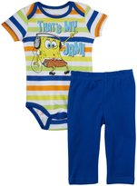 Nickelodeon Spongebob Creeper Pant Set (Baby) - Blue-0-3 Months