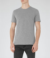 Reiss Reiss Shine - Honeycomb Weave T-shirt In Grey