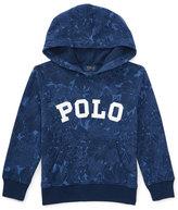 Ralph Lauren Hooded Floral Pullover Sweatshirt, Blue Tropical, Size 5-7