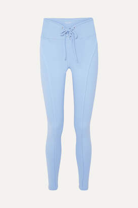 YEAR OF OURS Football Lace-up Stretch Leggings - Light blue