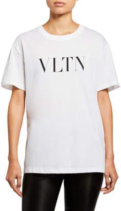 Valentino Short-Sleeve VLTN Logo Tee