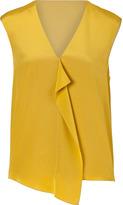 Tibi Mustard Silk Top