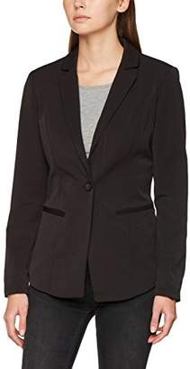 Vila CLOTHES Women's Viher Blazer, Multicoloured Black, 38 (Size: Medium)