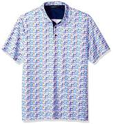 Bugatchi Men's Modern Trim Fit Candy Triangle Multi Polo Shirt XL