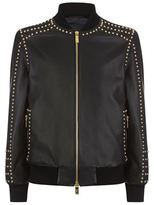 Blood Brother Gold Rivet Leather Jacket