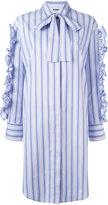 MSGM Ruffle shirt dress - women - Cotton - 40