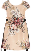 Fendi Metallic Floral-jacquard Mini Dress - Beige