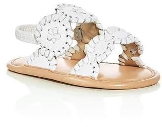 Jack Rogers Girls' Medallion Leather Slingback Sandals - Baby