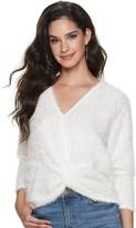 JLO by Jennifer Lopez Women's Long Sleeve Twist Top