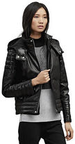 Kenneth Cole Leather Puffer Jacket