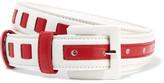 Oscar de la Renta Two-tone woven leather waist belt