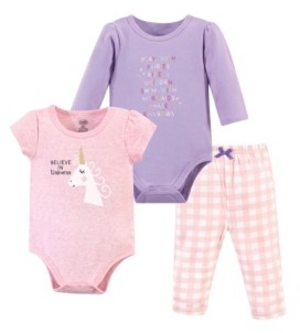 Luvable Friends Baby Girl 2-Bodysuits and Pant