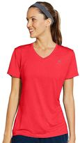 Champion Women's Vapor Stripe V-Neck Workout Tee