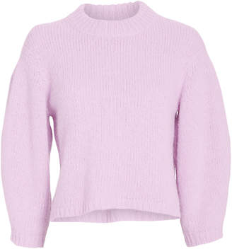 Tibi Airy Alpaca Cropped Sweater