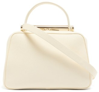 Valextra X Michael A Flute Medium Grained-leather Handbag - White