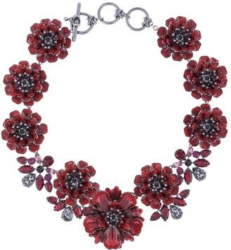 Marchesa Poppy floral necklace