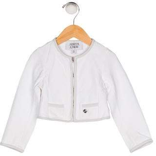 Armani Junior Girls' Long Sleeve Cardigan