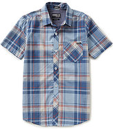 O'Neill Big Boys 8-20 Plaid Short-Sleeve Stretch Woven Shirt