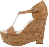 Elizabeth and James Leather Platform Sandals