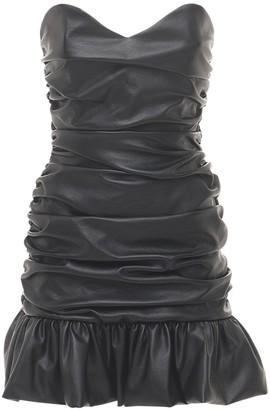 Giuseppe di Morabito Faux Leather Mini Dress