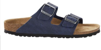 Birkenstock Arizona Saddle Matt Navy Vegan Sandals - 39 / narrow fit
