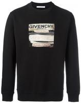 Givenchy labels print sweatshirt
