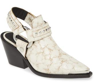 Zadig & Voltaire N'Dricks Studded Slingback Shoe