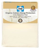 Sealy Organic Cotton Allergy Protection Crib Mattress Pad