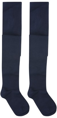 M&Co Navy tights two pack