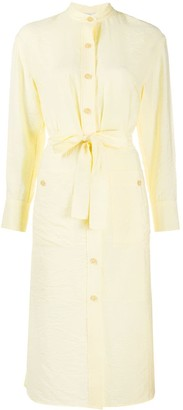 Vince long sleeved shirt dress