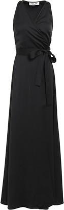 Diane von Furstenberg Marisol Satin-crepe Maxi Wrap Dress