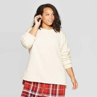 Universal Thread Women's Plus Size Long Sleeve Crewneck Fleece Tunic Pullover Sweatshirt