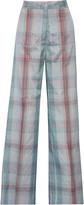Stella McCartney Connor silk plaid wide-leg pants
