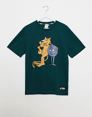 Puma x The Hundreds logo t-shirt in green