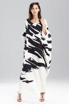 Josie Natori Couture 3D Ikat Caftan