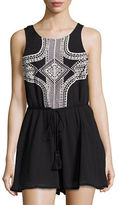 Vitamin A Geo-Embroidered Sleeveless Romper