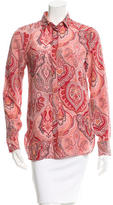 Celine Silk Paisley Print Top