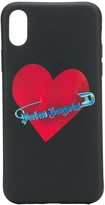 Palm Angels safety pin heart iPhone X case