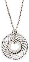 David Yurman Sterling Diamond Thoroughbred Pendant Necklace
