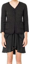 Max Studio Boucle Checked Wool Jacket