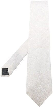 Gianfranco Ferré Pre Owned 1990s Jacquard Floral Pattern Tie