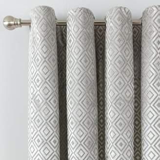 Argos Home Velvet Geo Lined Eyelet Curtains