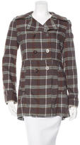 Marni Wool Plaid Coat