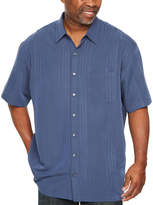 Van Heusen Short Sleeve Button-Front Shirt-Big and Tall