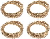 L'OBJET Deco Twist Napkin Rings - Set of 4 - Gold