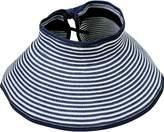 Simplicity Summer Women Wide Brim Sun Visor Foldable Roll Up Hat, Black/White