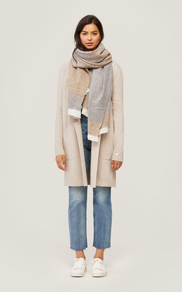 Soia & Kyo LOUVAIN two-tone woven scarf with fringe